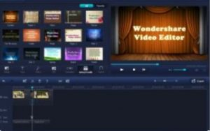 Wondershare Video Editor Crack Full Version + Registration key