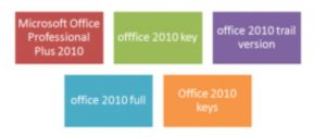 product key of microsoft office 2010 plus