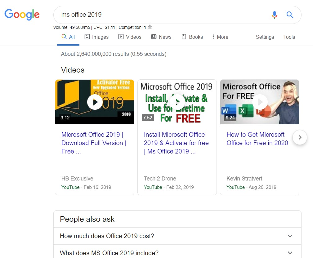 Microsoft Office 2019 Crack Activation Key Full Download Iso